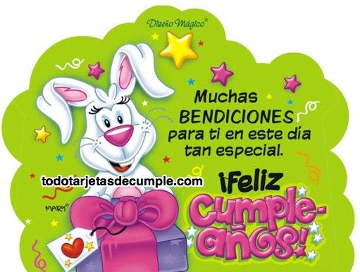a42d3642ce9de Tarjetas de cumpleaños con muchas bendiciones