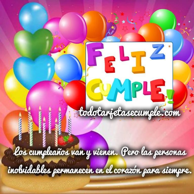 imágenes de cumpleaños con globos y frase
