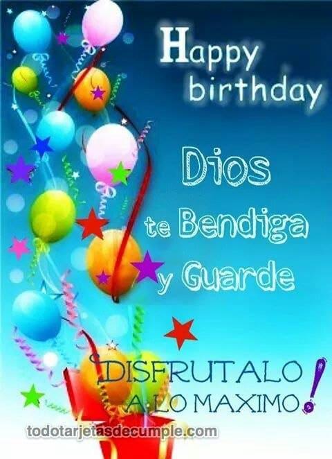 Tarjetas de Happy Birthday con frases cristianas