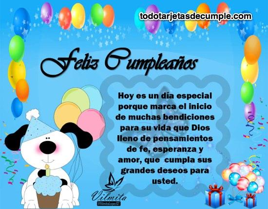 Imágenes cristianas de feliz cumpleaños hoy es un día especial