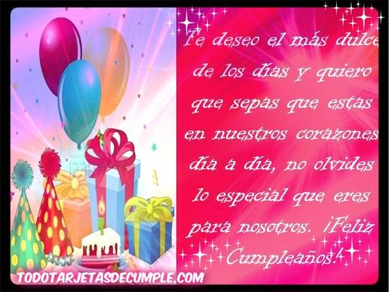 imágenes de cumpleaños te deseo el más dulce de los días