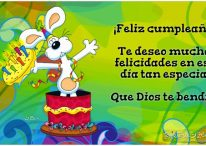 ¡Feliz cumpleaños! Que Dios te bendiga