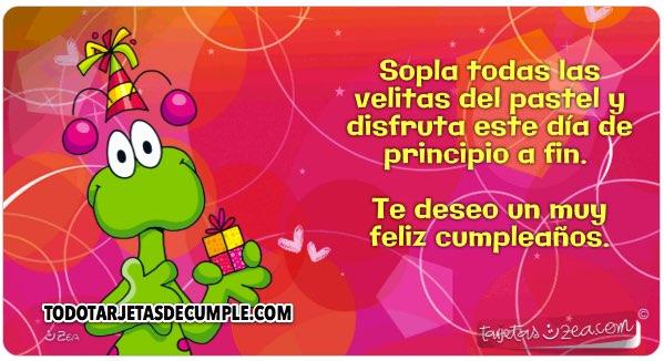 Feliz cumpleanos te deseo de todo corazon