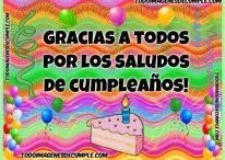 Gracias por los saludos de cumpleaños